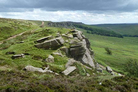 Photo from the walk - Stanage Edge from Hathersage