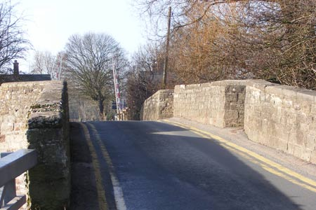 The bridge over the River Lugg at Moreton on Lugg
