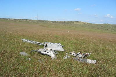 Meteor wreckage, Sliddens Moss, near Holme Moss