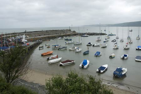 The harbour at New Quay