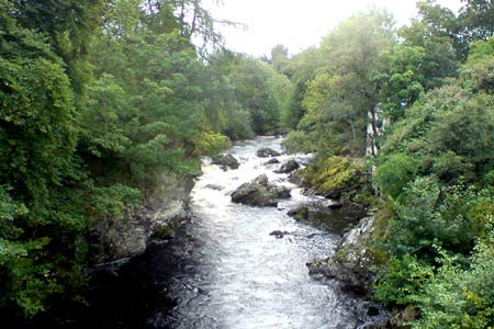 The River Clunie from Braemar village
