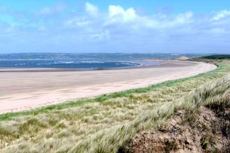 Photo from the walk - Whiteford Sands from Llanmadoc