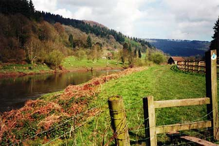 Photo from the walk - The Wye Valley from Brockweir