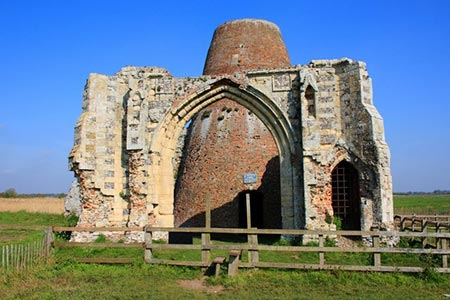 Photo from the walk - St Benet's Abbey & How Hill from Ludham