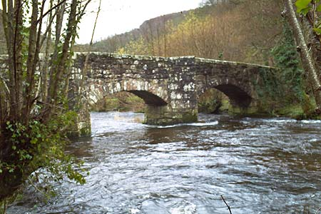 Fingle Bridge spans the River Teign