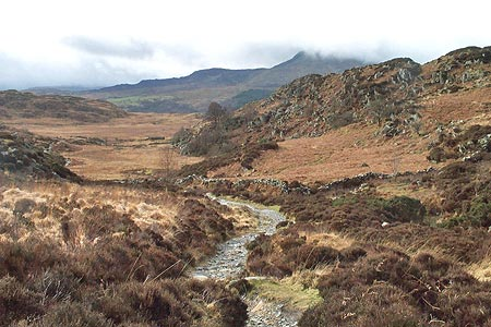 The path between Capel Curig and Crimpiau