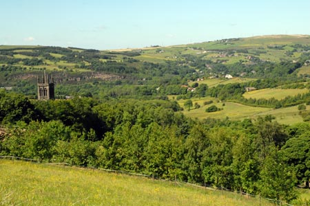 Photo from the walk - The Pots & Pans from Uppermill