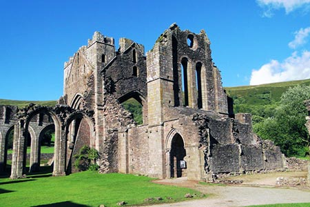 Photo from the walk - Llanthony Priory from Capel-y-ffin