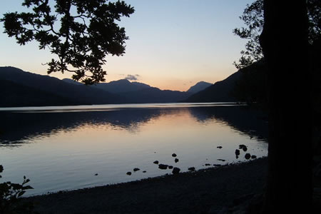 Tranquility by Loch Lomond at the end of a long day
