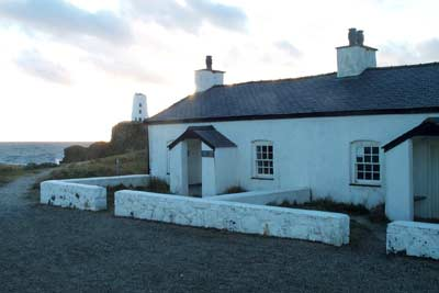 A row of cottages on Llanddwyn Island