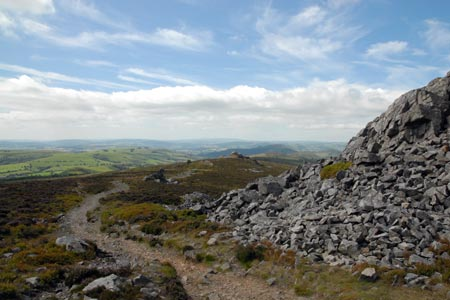 Photo from the walk - The Stiperstones & Blakemoor Flat from the Knolls