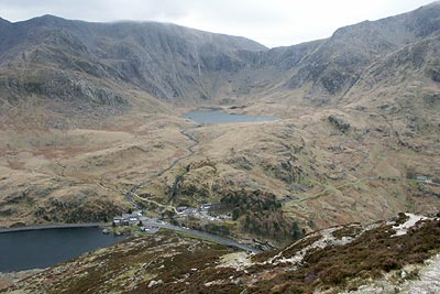 Photo from the walk - Pen yr Ole Wen from the Ogwen Valley