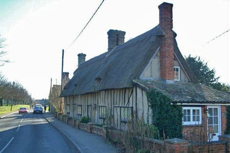 Thatched cottages, near Whaddon