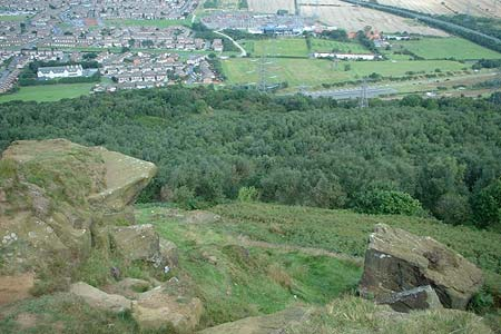 The view north from the top of Eston Nab