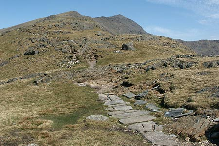 Bwlch-Cwm Llan & path up Snowdon's South Ridge
