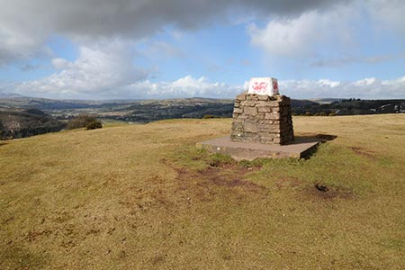 Photo from the walk - Pen-y-Crug hill fort from Brecon