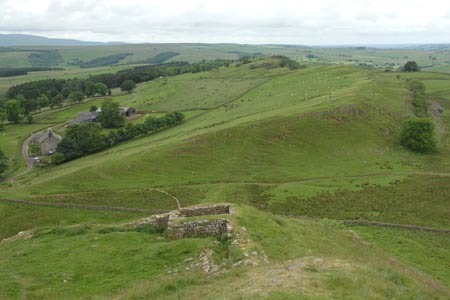 Hadrian's Wall - the view west from Turret 44B