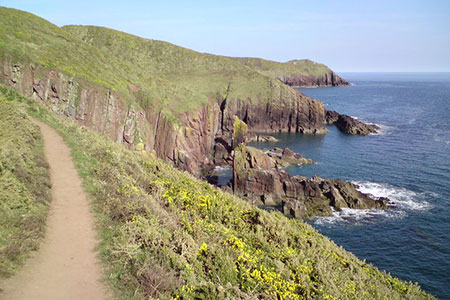 Photo from the walk - Swanlake Bay from Manorbier