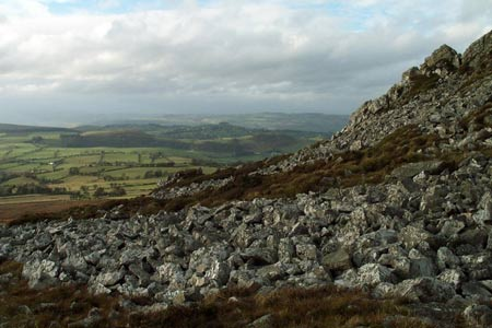 Looking south from Manstone Roack, the Stiperstones