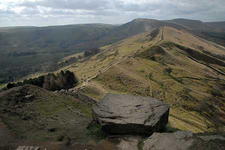 Photo from the walk - Lose Hill & Hollins Cross from Castleton