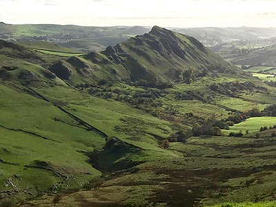 Photo from the walk - The Dragon's Back (Chrome Hill) from Hollinsclough