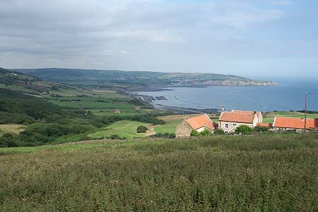 Photo from the walk - Robin Hood's Bay from Ravenscar