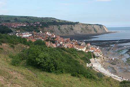 The village of Robin Hood's Bay from the Cleveland Way