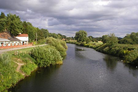 Photo from the walk - River Dee from Farndon