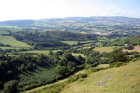 Photo from the walk - The Hergest Ridge from Gladestry