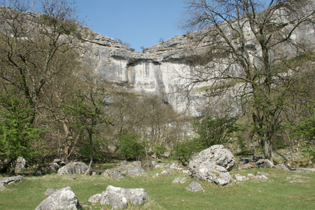 Photo from the walk - Malham Cove from Malham