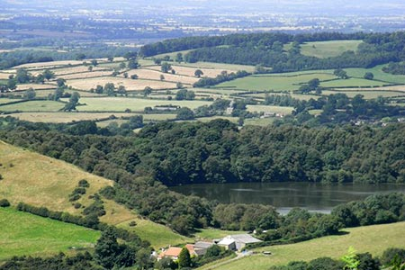 Photo from the walk - Gormire Lake from Sutton Bank National Park Centre