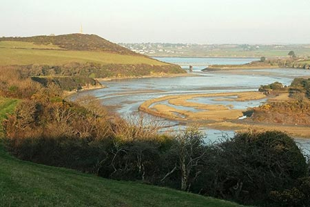 Photo from the walk - Padstow from Little Petherick