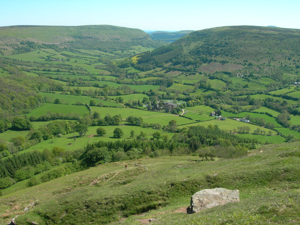 Photo from the walk - Llanthony Priory from Longtown