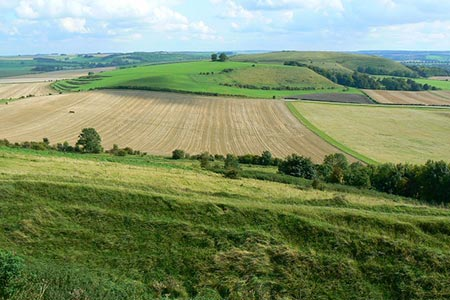 Photo from the walk - Battlesbury Hill from Norton Bavant